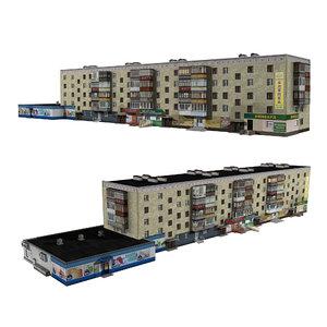 3D brick residential shop