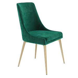 3D chair gabrielle upholstered dining model