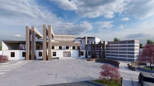 designing architectural school 3D