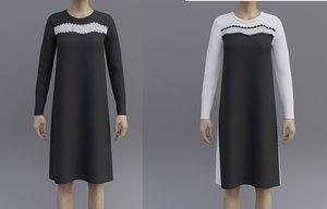 sheath dress 2 different 3D model
