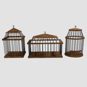 3D birdcages cages