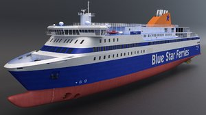 3D blue star ferries - model