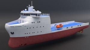 3D platform supply vessel model