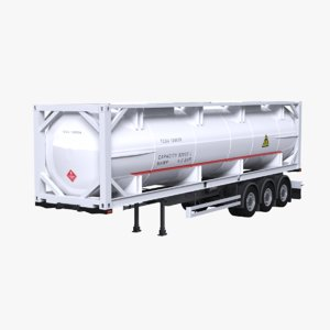 iso tanker trailer 3D model