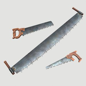 3D stylized hand saws model