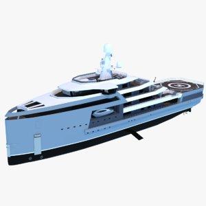 expedition yacht seaxplorer 90 3D model
