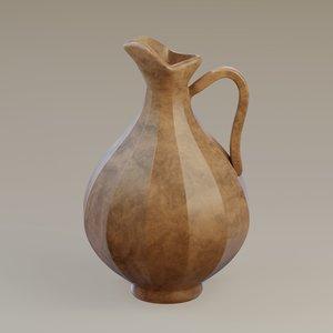 3D model pitcher marble
