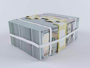 dollar bills 3D model
