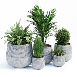 3D fiber clay planter set