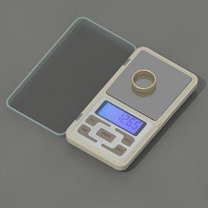 pocket scale 3D model