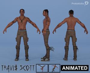 3D model skin travis scott rigged