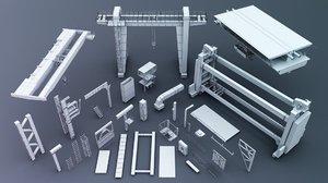 industrial kitbash kit 3D