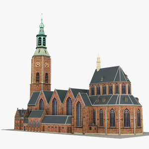 church grote sint-jacobskerk 3D