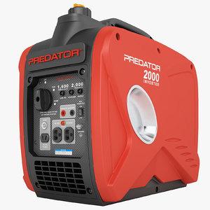 3D model predator 2000 watt