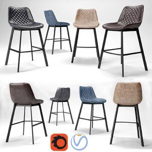 bar stools trix 3D model