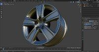 Car rim 3d model tire subdivison