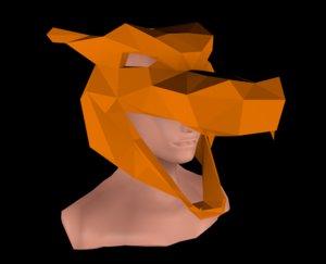 3D dragon head model