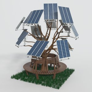 3D solar cell etree model