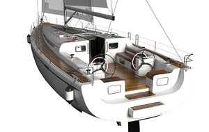cruise yacht sail 3D model