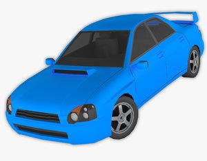 3D polycar n99 lp1 cars model