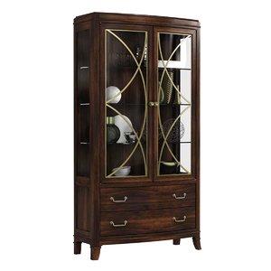 cabinet hooker furniture dining room 3D