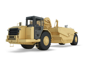 3D track-type tractor model