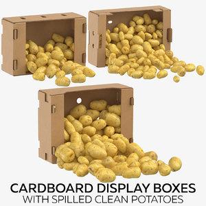cardboard display boxes spilled 3D