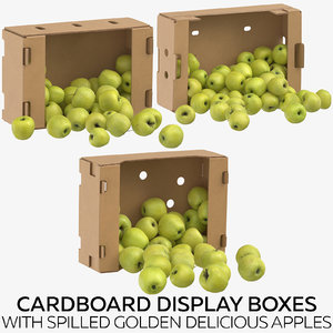 3D cardboard display boxes spilled