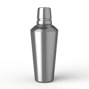 3D model cocktail shaker