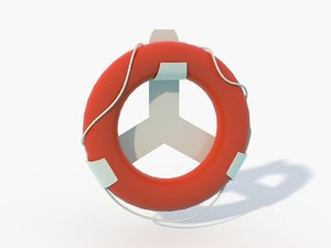 3D low-poly life buoy