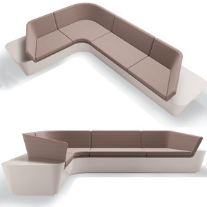 modular seating sofa 3D model
