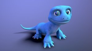 3D lizard cartoon
