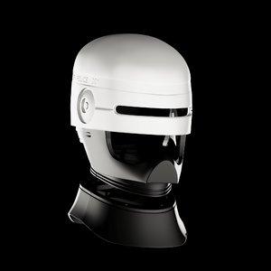 3D model robocop helmet s