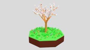 3D almond tree model