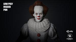 3D model character clown