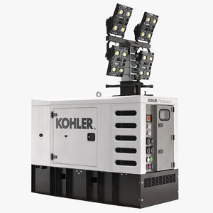 3D kohler generator light mast model