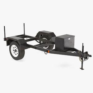 3D heavy duty 2 wheel