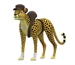 scout cheetah 3D model