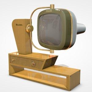 3D vintage tv predicta