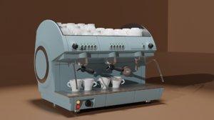 professional coffee machine 3D model