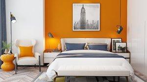bedroom modern 3D model