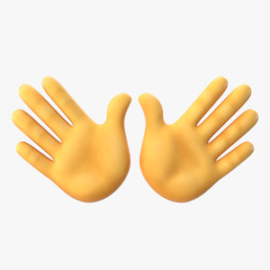 open hands emoji 3D