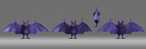 bat cartoon 3D model