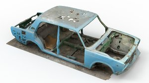 wrecked car model