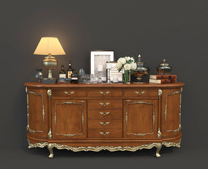 3D decoration drawer chest model