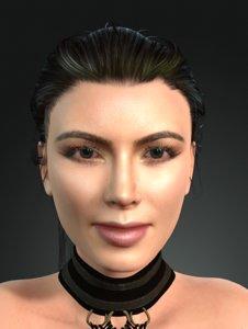 kim kardashian arabic dancing 3D model