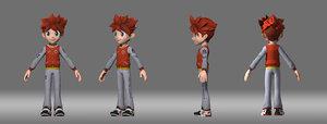 cartoon boy student 3D