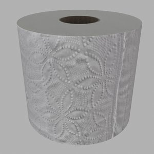 3D toilet paper roll