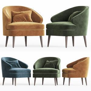 brevik armchair dantonehome 3D model
