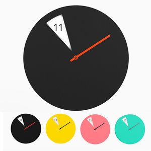freakish wall clock monoqi 3d max